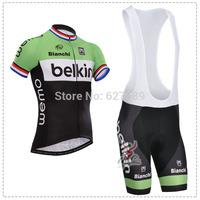 Belkin 2014 Cycling Jersey bib kit Short Sleeved bib Shorts ropa Ciclismo bicycle Cycling thight fitness clothes bicycle Maillot