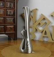 Swan shape Vases decoration flower vase vintage metal home decoration gifts