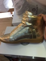 MMM Fashion Sneakers Maison High Top Shoes Martin Margiela Boots Men Genuine Leather Gold Casual Shoes