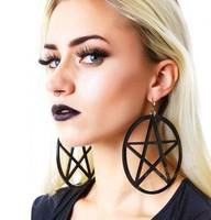 2014 New Women Fashion Brand Jewelry  Tide Girl Punk  Nightclub Super Sexy Acrylic Lost Five Star Dangle Drop Earring