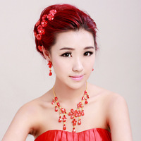 Free shipping bridal crown hairpin earing torques wreath wedding tiaras wholesale Wedding Jewelry