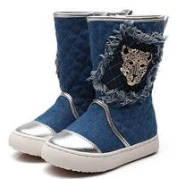 Free shipping! high quality fashion children autumn/winter boots single shoes, medium-leg boots,warm boots