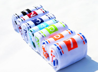 MeetUA  7pair /lot,Factory 7 days sock with different color weekly fashion Cotton socks,for Men Sport Socks,for woman cute sock