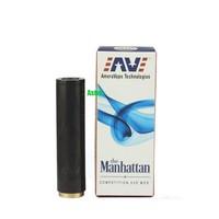 Manhattan Mechanical Mod Red Copper SS Black Manhattan Mod Clone for 510 Thread Clearomizer E Cigarette Mod Fit 18650 Battery