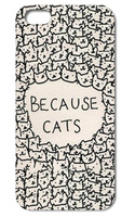 Unique Because Cats style hard phone cases back cover case for Iphone 4 4S 5 5S 5C  Q625