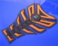 Free shipping 10pcs For DERBI BENELI  YAMAHA HONDA 3D Gas Decal Sticker Motorcycle Polyester Resin Tank Pad Protector Oranger