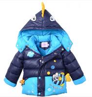 boys warm coat baby winter long sleeve warm jacket children cotton-padded clothes kids stripe outwear