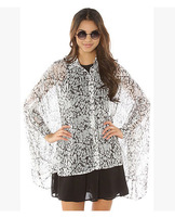 The original single ladies eviltwin new plus-size women loose perspective batwing coat snow spins unlined upper garment