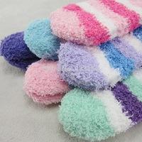 MeetU Factory direct sell 24Pcs/ autumn fall winter warm children socks wholesale warmly socks for kids cute stripe girls socks