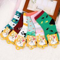 MeetU 40Pcs Cotton children socks 20 pair different color cute kids sock,wholsale socks for girls and boy free ship good quality