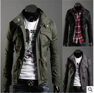 Модный Men's Jackets, winter overcoat, outwear, winter jacket, Men's Coat , 5Цвет, 6Размер, dropsТазping ...