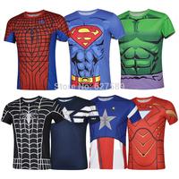 Black Spider Man Captain America Iron Man Superman The Incredible Hulk 2014 Cycling Jersey bib kit Short Sleeve ropa Ciclismo