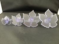 free shipping 4pcs/set Maple leaf shape cake decoration baking accessary fondant cutter mold Embosser Tool Set