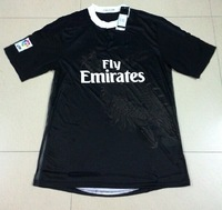 14/15 real madrid 3D black champions soccer jerseys thai 3AAA quality football shirts top quality free shipping