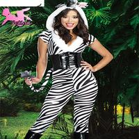 animal costumes Slim Fit Nightclub Style Novelty Plush zebra costume Halloween Performance Enchanting cosplay jumpsuits XDW020
