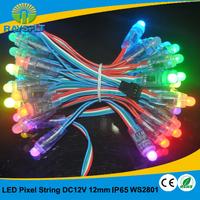 LED Board Light 50pcs/lot 12mm ws2801 led pixel  IP65 waterproof 12v module full color string
