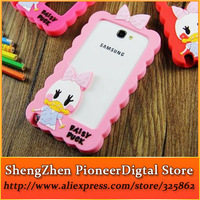 Hot 10pcs/lot New Popular Lovely Daisy Donald Duck Silicon Case Phone Cases Protective Frame For Samsung Galaxy Note 2 N7100
