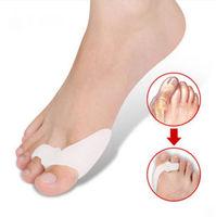 A Pair Pro Soft Gel Toe Separators Straighteners Hallux Valgus Bunion Pain Relie