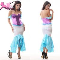 mermaid dress Charming& Luxury Paillette Strapless sexy cosplay costumes Top Design Nightclub Charming uniform for women XDW022