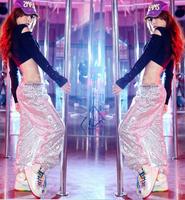 Hot Sale Fashion Style Sequined Harem Pants for women Hip Hop Pants