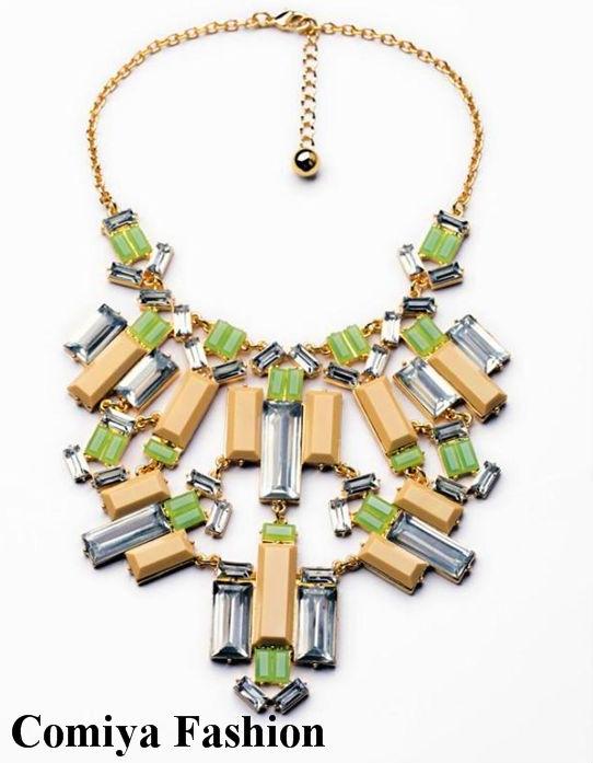 New fashion brand gold chain dress link pendant big chunky necklaces for women 2014 aliexpress bijoux max colares bijuterias(China (Mainland))