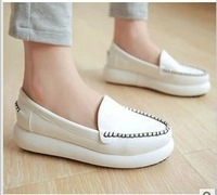 Fall 2014 new sponge bottom han edition fashion white shoe comfortable flat nurse students joker in women's shoes 082512