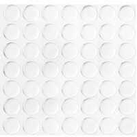"Wholesale 100 pcs 1"" Clear Epoxy Adhesive Circles Dome Bottle Cap Seals Stickers 2mm Thick"