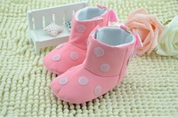 Baby Girls Boots Fashion Pink Soft Bottom Boots Toddler Shoes Cute Girls Lace Bowknot And Cartoon Shoes 1pcs Free Shipping