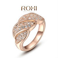 ROXI  Wholesale fashion Rose Gold Plated Austrian crystal Ring ,new arrival factory prices RO54