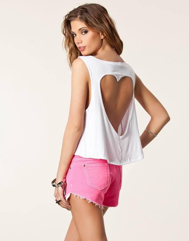 Heart cut design Tee Cut T Shirt Designs For Girls