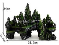 The new all-match aquarium aquarium landscaping rockery resin rockery 190 large simulation