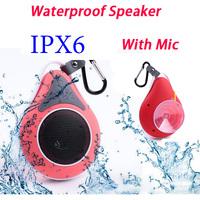 Wireless Waterproof Speaker IPX-6 Potable Stereo Bluetooth Sound box For Shower Car Handsfree Music & Outdoor Travel