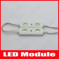 2 LED Injection Led Module 5630 Waterproof IP65 Cool White /Warm White DC 12V 0.8W 40LM Advertising Sign Lights CE RoHS 1000pcs