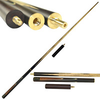 CUESOUL Handemade 3/4 Rosewood 4 Side Spliced Snooker Cue Stick + 9.5mm Cue Tips