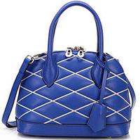 Hot sale genuine leather women handbags 2014 new shell bag microfiber cowhide with sheepskin shoulder bag