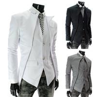 Drop Shipping Men Blazer Male Casual Clothing Man Jacket Three Color Slim Fit Men Blazers Free Shipping 2014 New  B050