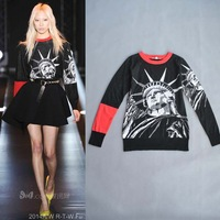 Fall 2014 Runway Brand Design The Statue of Liberty Long-sleeved Wool Sweater for Women 140825D02