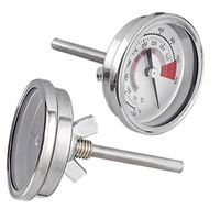 Barbecue BBQ Pit Smoker Grill Thermometer Gauge 300C