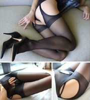 Fashion Sex Products Exotic Apparel Women Sexy Sheer Pantyhose Open Crotch Lingerie