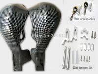 Free shipping  Carbon Handguard Raptor Hand Guards Motorcycle ATV Handguard armguard Imitation carbon  Fiber ATV Handguards