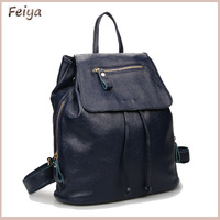 New Drawstring Women Backpacks Designer Brand Backpack Hiking School Backpacks Women's Cow Leather Black FG326