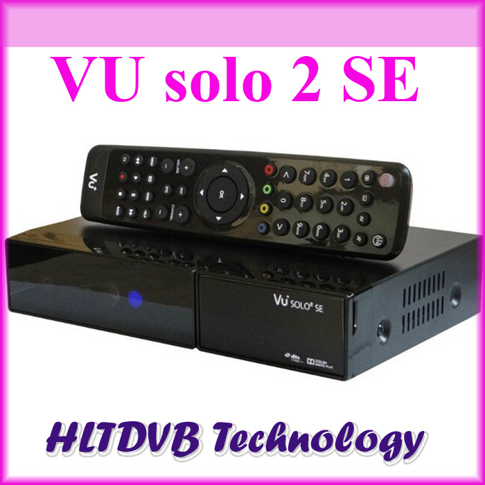1pc vu solo2 se twin tuner decoder dvb-s2 tuner STB hd Linux OS 1300mhz support cccam satellite tv receiver high quality(China (Mainland))
