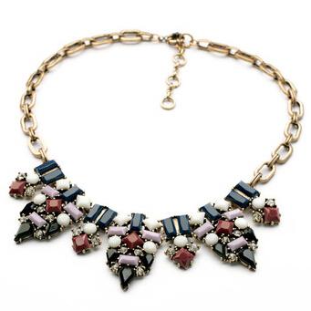 2014 New Fashion Flower Bib Multicolor Fashion Pendants Statement Choker Necklace For Women(China (Mainland))