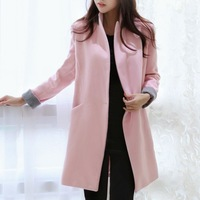 2014 medium-long outerwear cashmere overcoat trench wool coat plus size autumn and winter