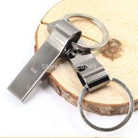 New V285W Waterproof Metal 128gb USB Flash Drives pen drive 128Gb Flash Drive with key ring Freeshipping