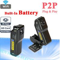 Super Mini P2P Wireless Wifi IP Camera With Battey Night Vision Resolution Ratio 640*480