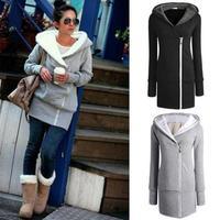New 2014 Winter Women Sweatshirt Long Sleeve Hoody Cardigans Coat Women's Hoodies Sports Suit Wear Track LuLu Hoodie Outerwear