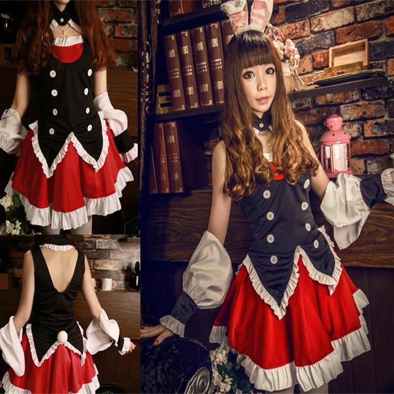 branca de neve princess costume bodysuit rabbit gothic lolita maid cosplay anime cosplay clothes halloween costumes for women(China (Mainland))