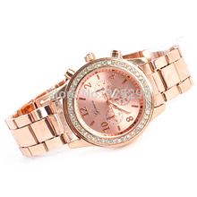 Hot salesNewlyGeneva Bling Crystal Women Girl Charm Stainless Steel Quartz Wrist Watch