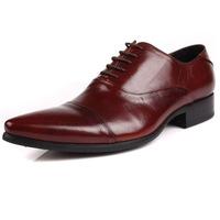 EU37-44 2014 autumen classic men's shoes fashion genuine leather pointed toe lace-up oxfords derbies dress wedding shoes